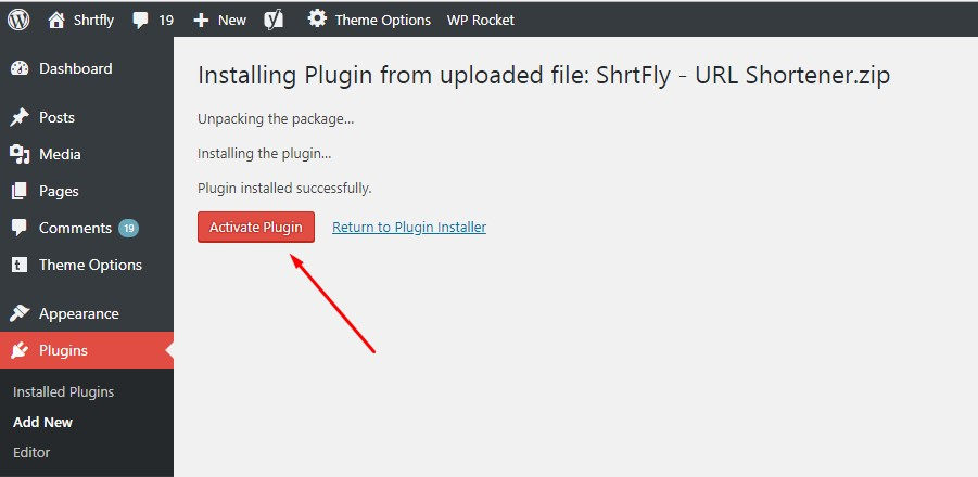 shrtfly wordpress plugin