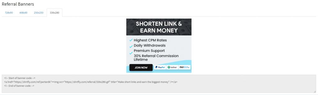 shrtfly referral banner